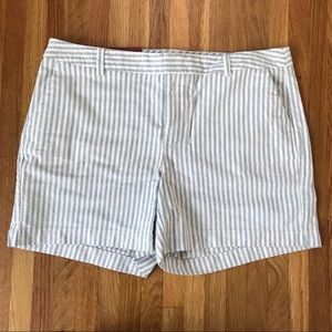 Blue Striped Chino Shorts
